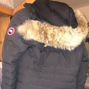 Canada Goose Lorette Coyote Fur Trim Down Coat